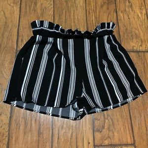 High wasted striped shorts